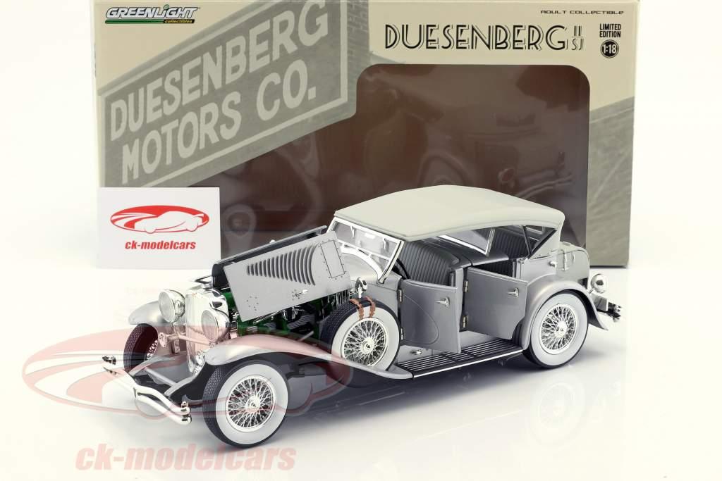 Duesenberg II SJ silber 1:18 Greenlight