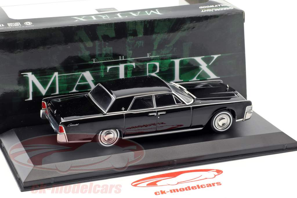 Lincoln Continental año de construcción 1965 película The Matrix (1999) negro 1:43 Greenlight