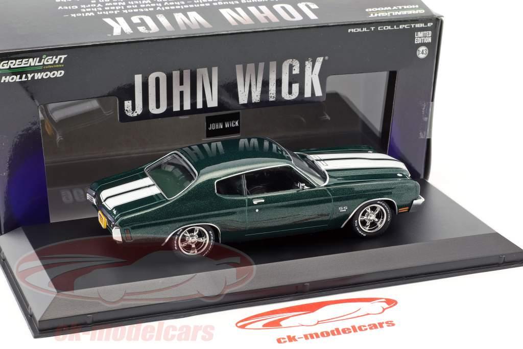 Chevrolet Chevelle SS 396 year 1970 Movie John Wick 2 (2017) green metallic 1:43 Greenlight