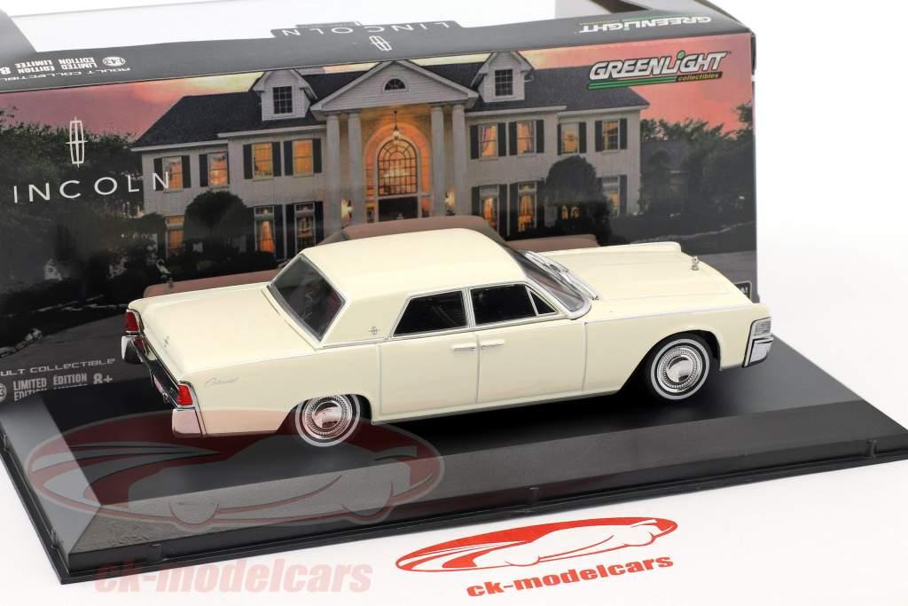 Lincoln Continental Bouwjaar 1965 wimbledon wit 1:43 Greenlight