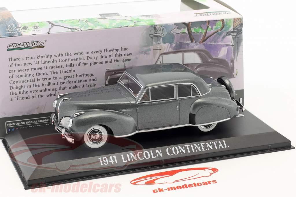 Lincoln Continental Opførselsår 1941 grå metallisk 1:43 Greenlight