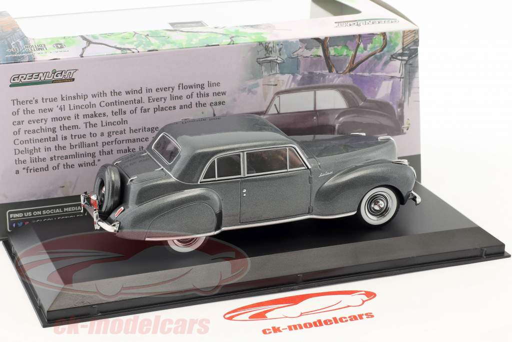 Lincoln Continental année de construction 1941 gris métallique 1:43 Greenlight