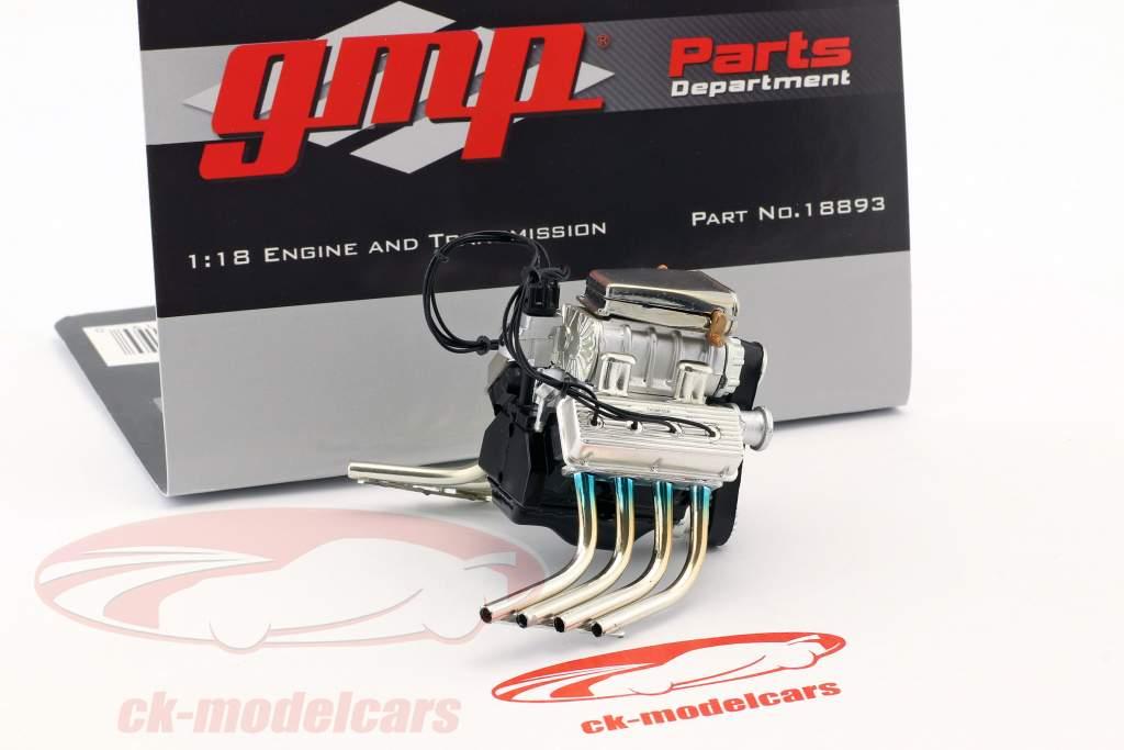 Barnstormer Dragster Tommy Ivo motor en transmissie (uit GMP18891) 1.18 GMP