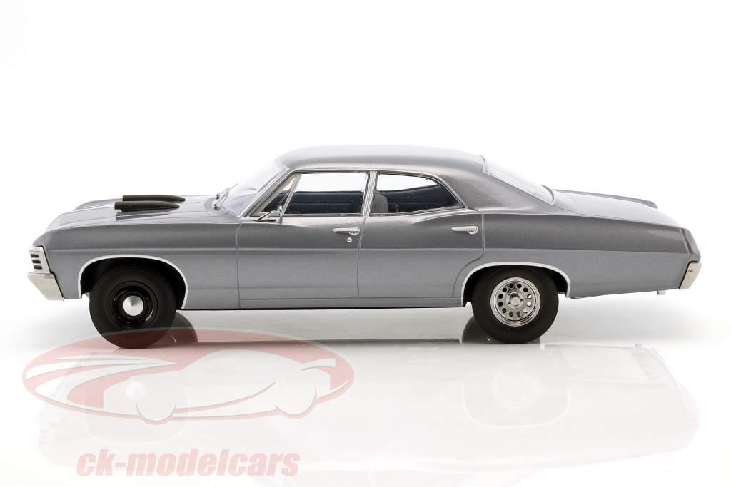 Chevrolet Impala Sport Sedan ano de construção 1967 série de TV o A-Team (1983-87) cinza azul 1:18 Greenlight