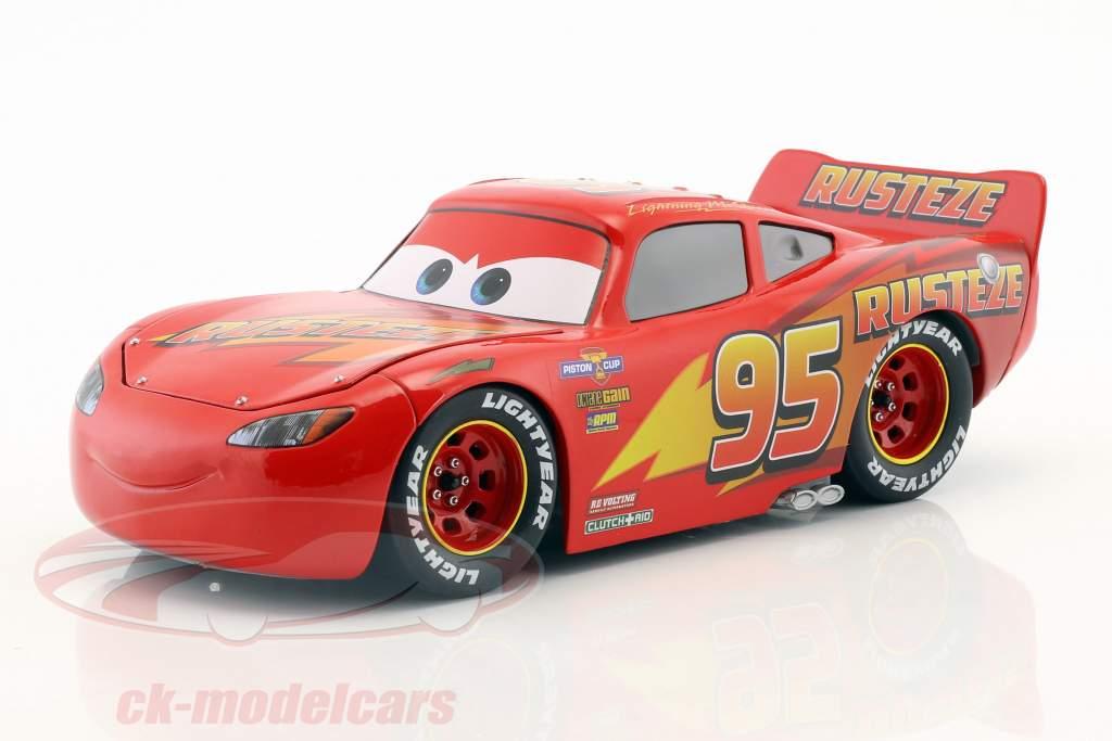 Lightning McQueen med Hjulsæt Disney film Cars 3 (2017) rød 1:24 Jada Toys