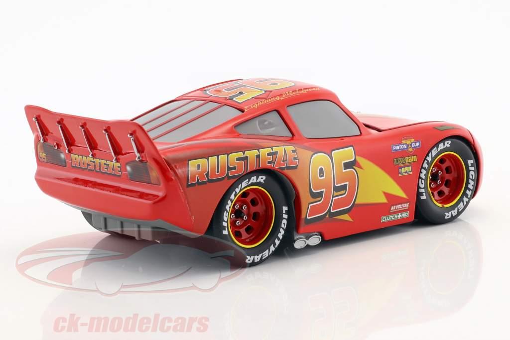 Lightning McQueen com Tire Set Disney filme Cars 3 (2017) vermelho 1:24 Jada Toys