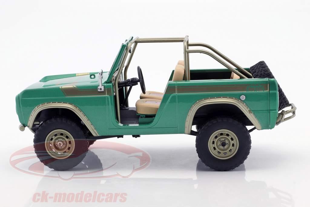 Ford Bronco año de construcción 1976 programa de televisión Gas Monkey Garage (puesto 2012) verde 1:18 Greenlight
