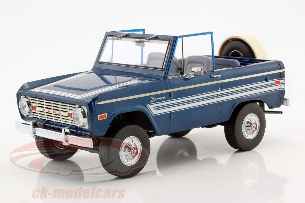 Ford Bronco Explorer año de construcción 1976 azul / blanco 1:18 Greenlight