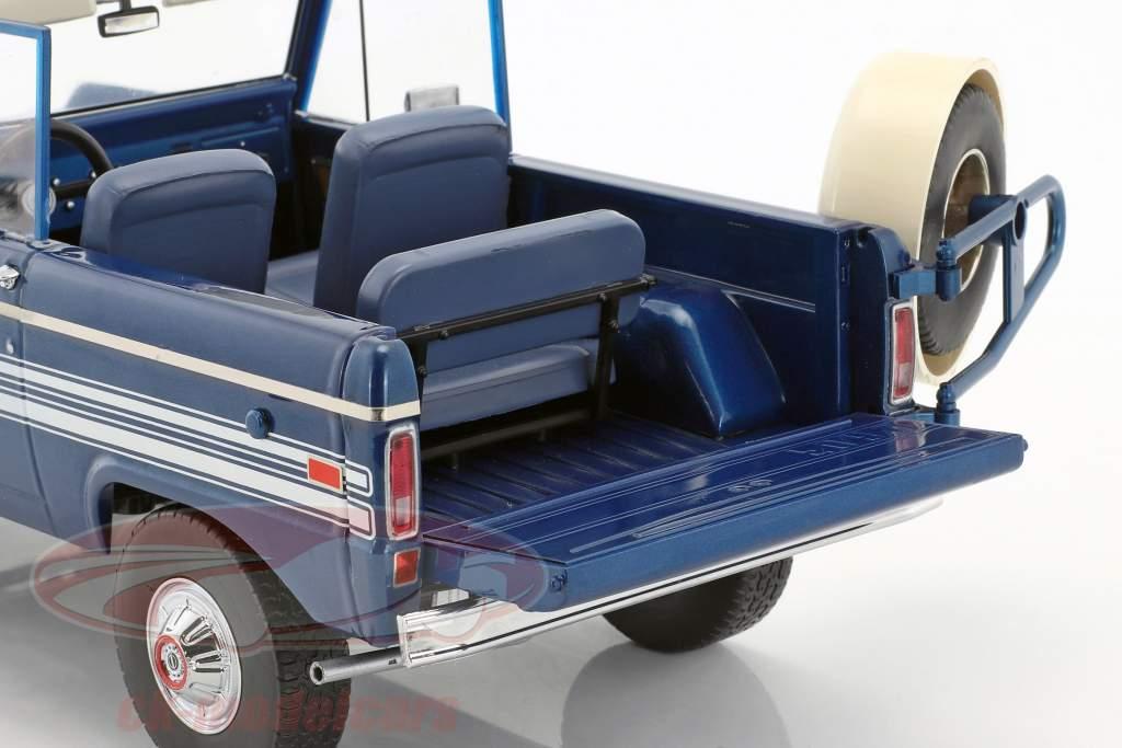 Ford Bronco Explorer Baujahr 1976 blau / weiß 1:18 Greenlight