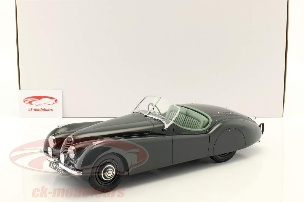 Jaguar XK 120 OTS Bouwjaar 1948-1954 donkergroen 1:12 Matrix
