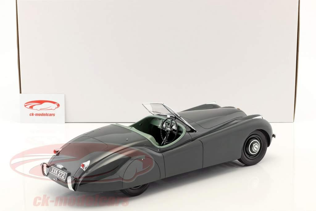 Jaguar XK 120 OTS année de construction 1948-1954 vert foncé 1:12 Matrix