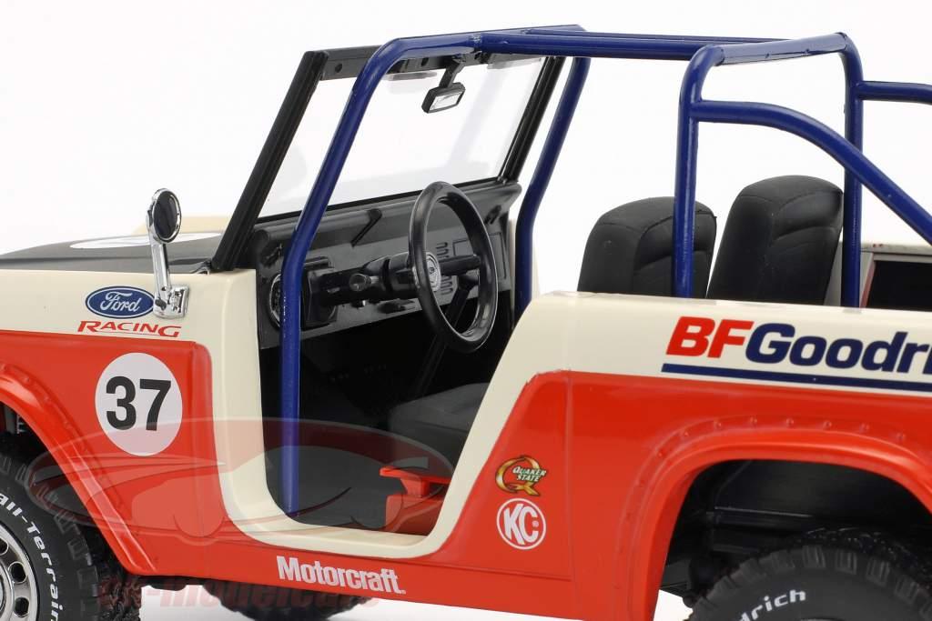 Ford Baja Bronco Opførselsår 1966 rød / hvid / sort 1:18 Greenlight