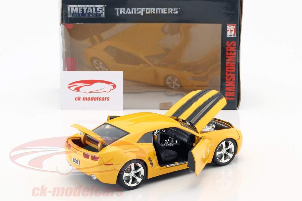 Chevrolet Camaro Bumblebee ano de construção 2006 filme Transformers (2007) laranja metálico 1:24 Jada Toys