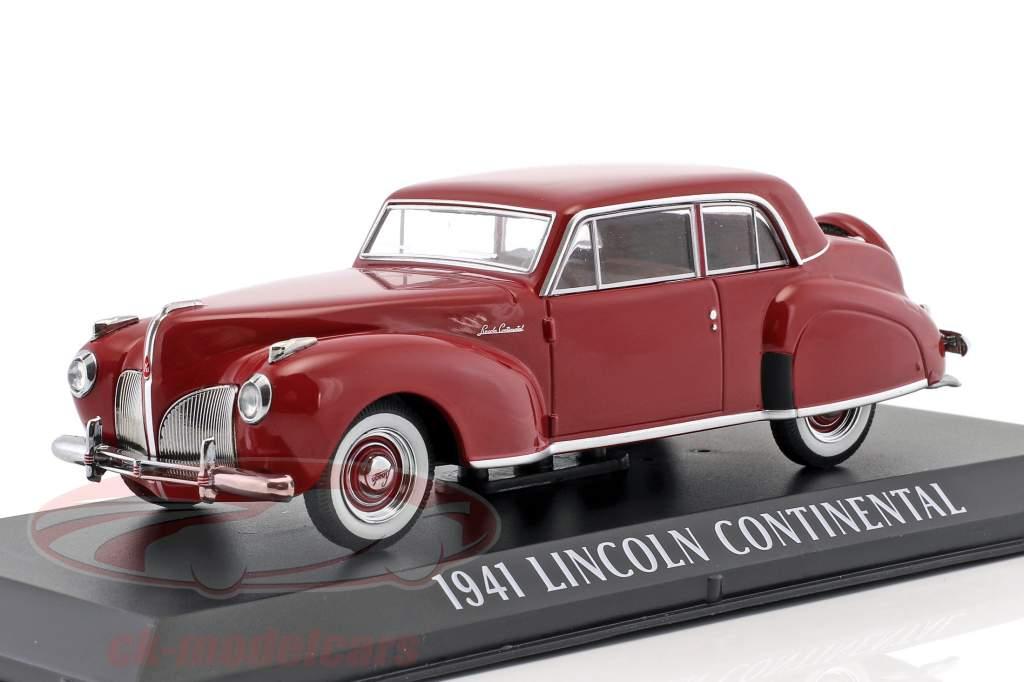 Lincoln Continental Baujahr 1941 dunkelrot 1:43 Greenlight