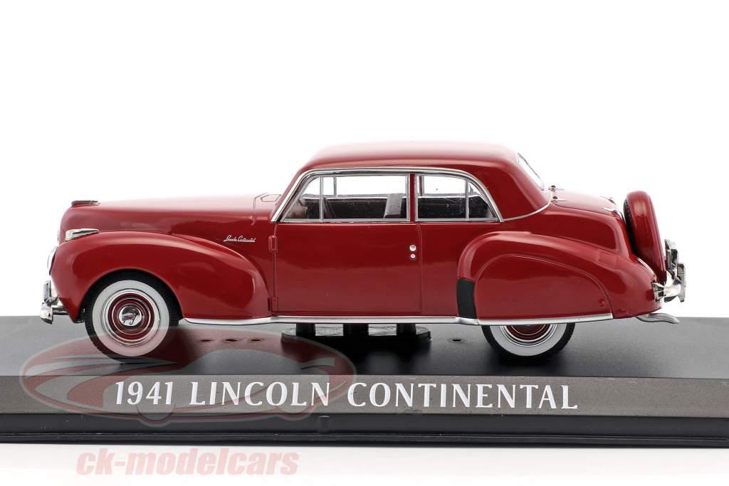 Lincoln Continental anno di costruzione 1941 scuro rosso 1:43 Greenlight