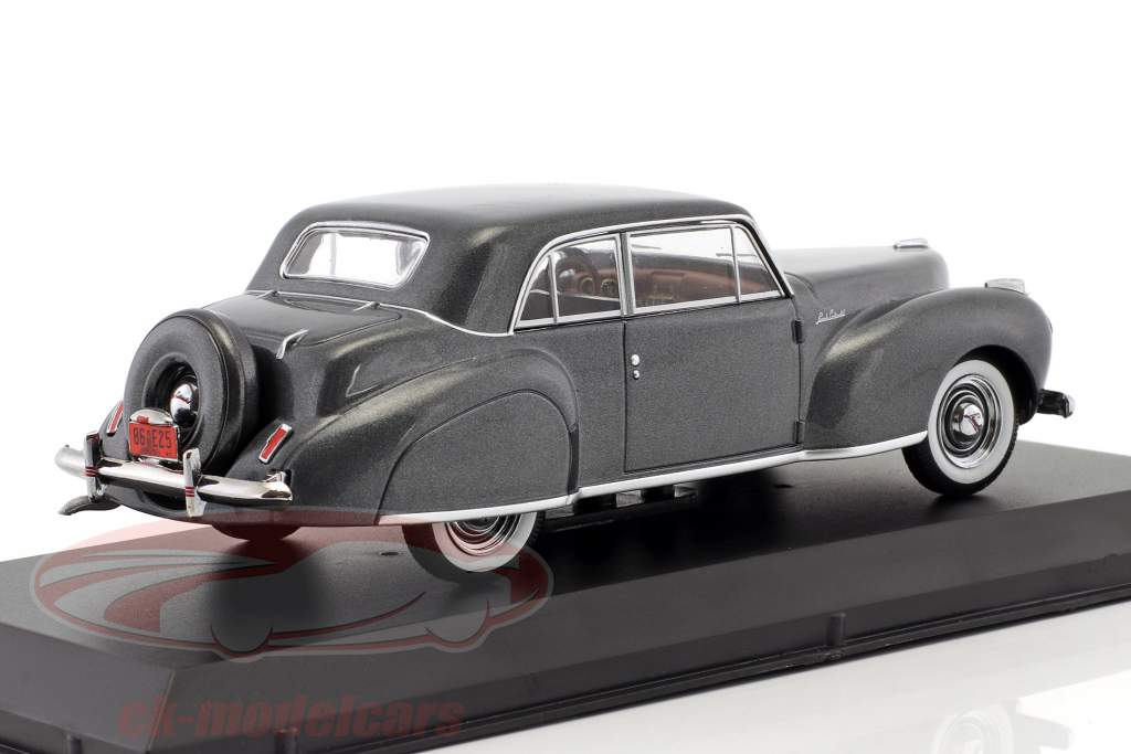 Lincoln Continental Bouwjaar 1941 grijs metalen 1:43 Greenlight