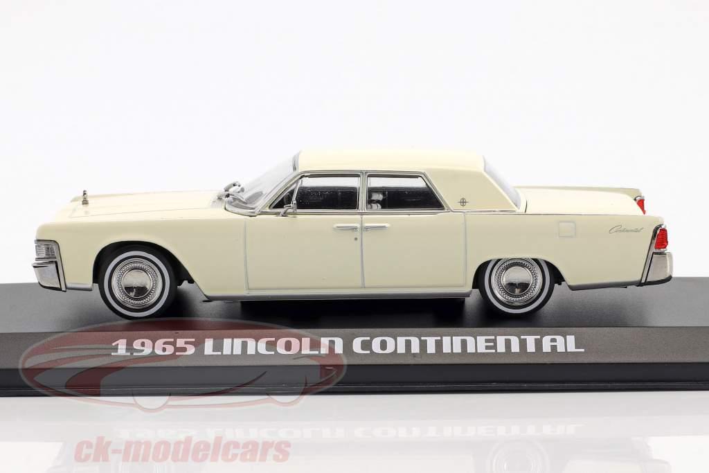 Lincoln Continental ano de construção 1965 wimbledon branco 1:43 Greenlight