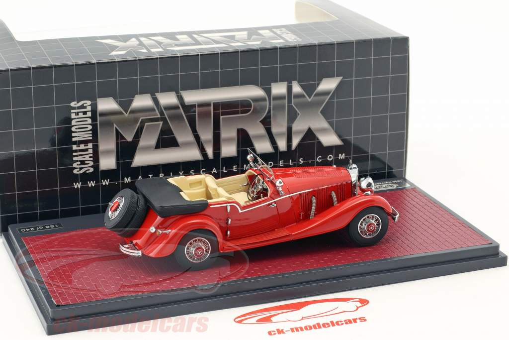 Mercedes-Benz 500K Tourer Mayfair Open Top Baujahr 1934 rot 1:43 Matrix
