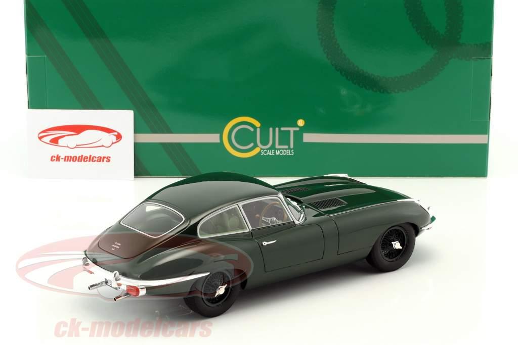 Jaguar E-Type Coupe Series II Opførselsår 1968 mørk grøn 1:18 Cult Scale