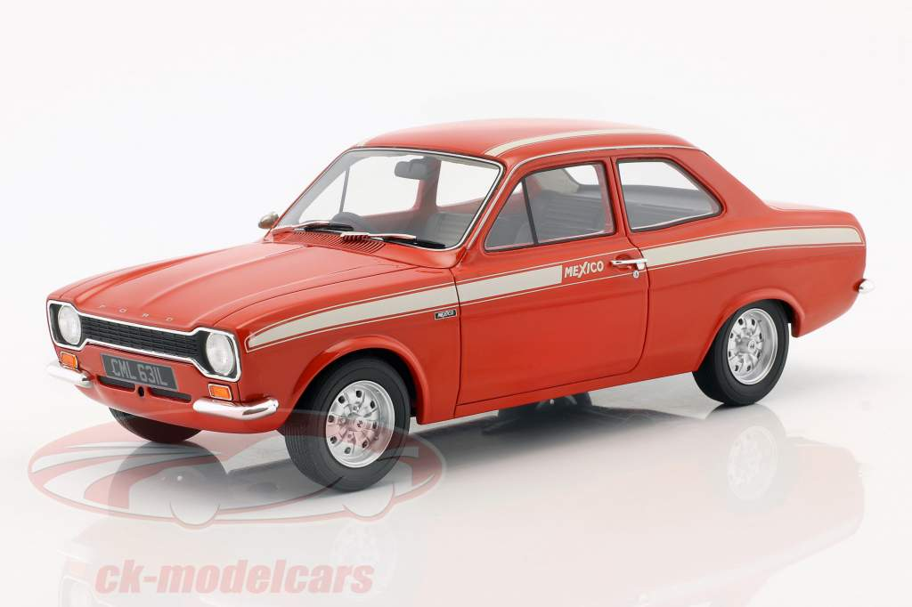 Ford Escort Escort MK1 Mexico year 1973 red / white 1:18 Cult Scale