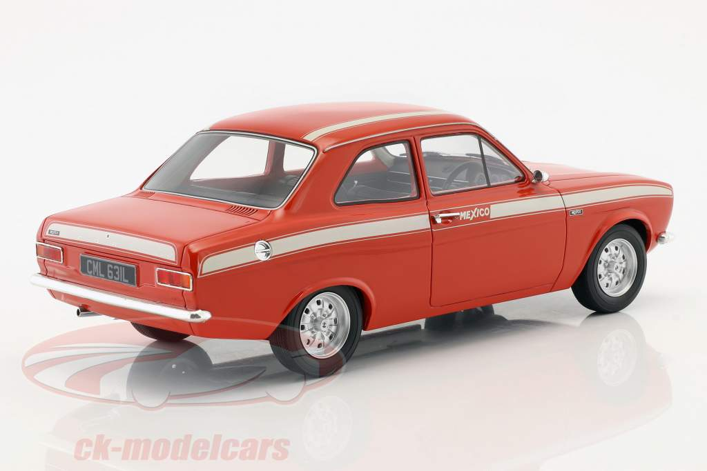 Ford Escort Escort MK1 Mexico Bouwjaar 1973 rood / wit 1:18 Cult Scale