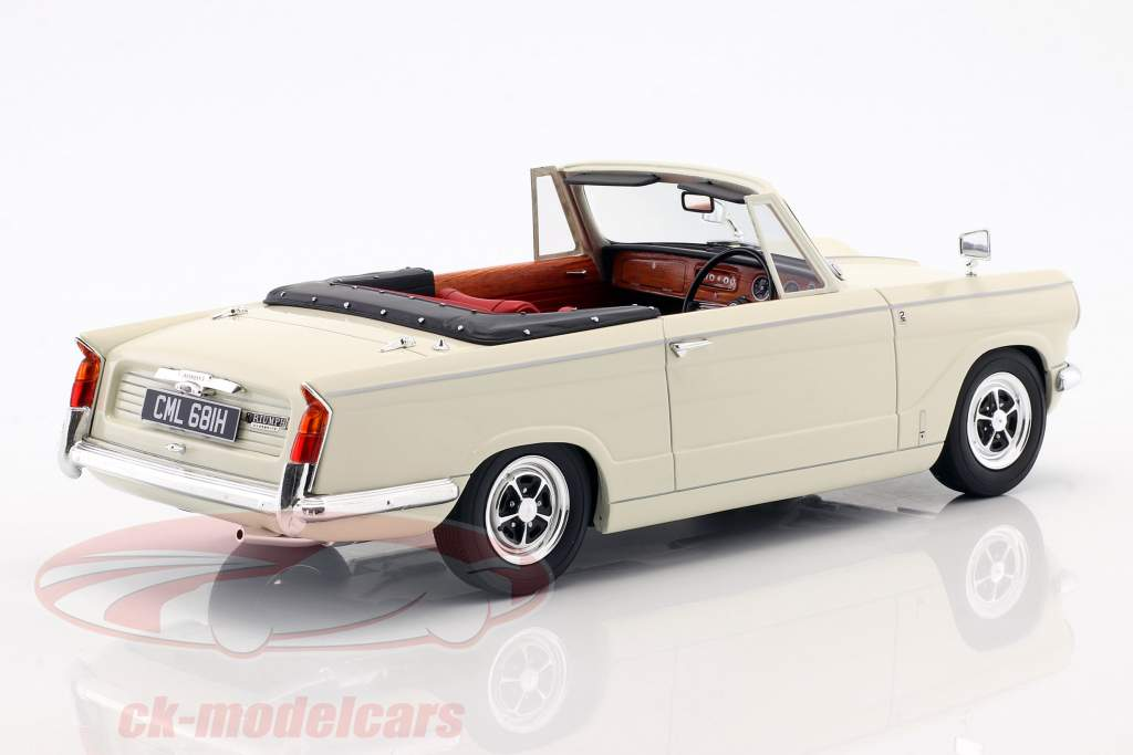 Triumph Vitesse MK2 DHC anno di costruzione 1962-1968 bianco 1:18 Cult Scale