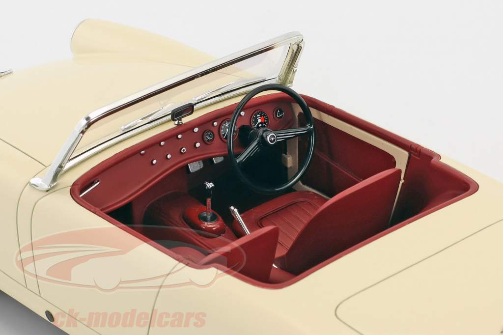 Austin Healey Sprite MK2 Bouwjaar 1961 crème wit 1:18 Cult Scale