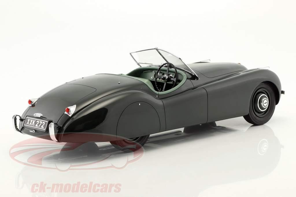 Jaguar XK 120 OTS anno di costruzione 1948-1954 verde scuro 1:12 Matrix
