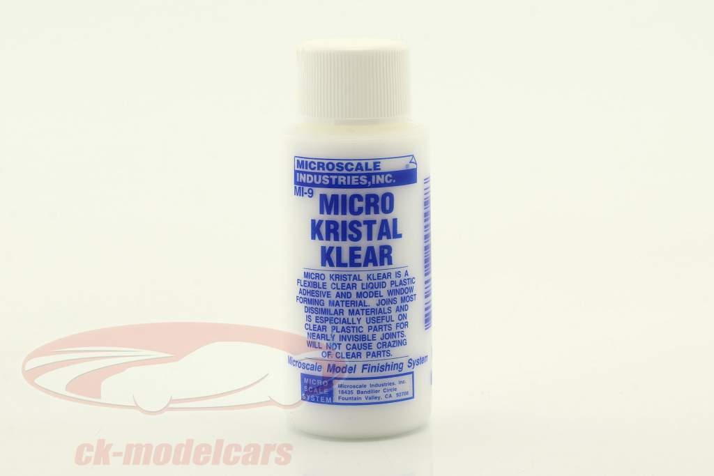 Mikro Kristal Klear fleksibel Ryd flydende Plastic Lim 30ml Microscale