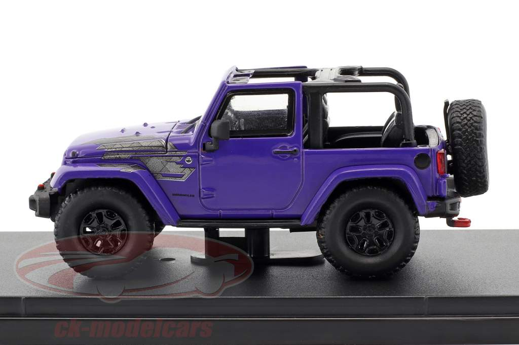 Jeep Wrangler All Terrain winter editie 2017 purper 1:43 Greenlight