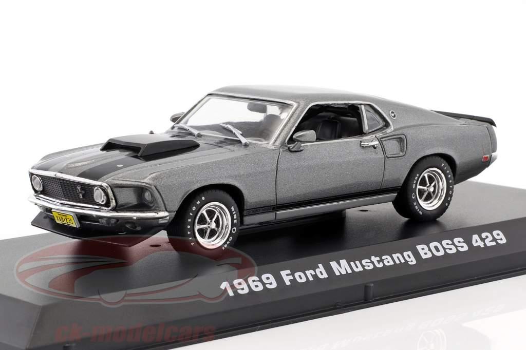 Ford Mustang Boss 429 anno di costruzione 1969 film John Wick (2014) grigio / nero 1:43 Greenlight