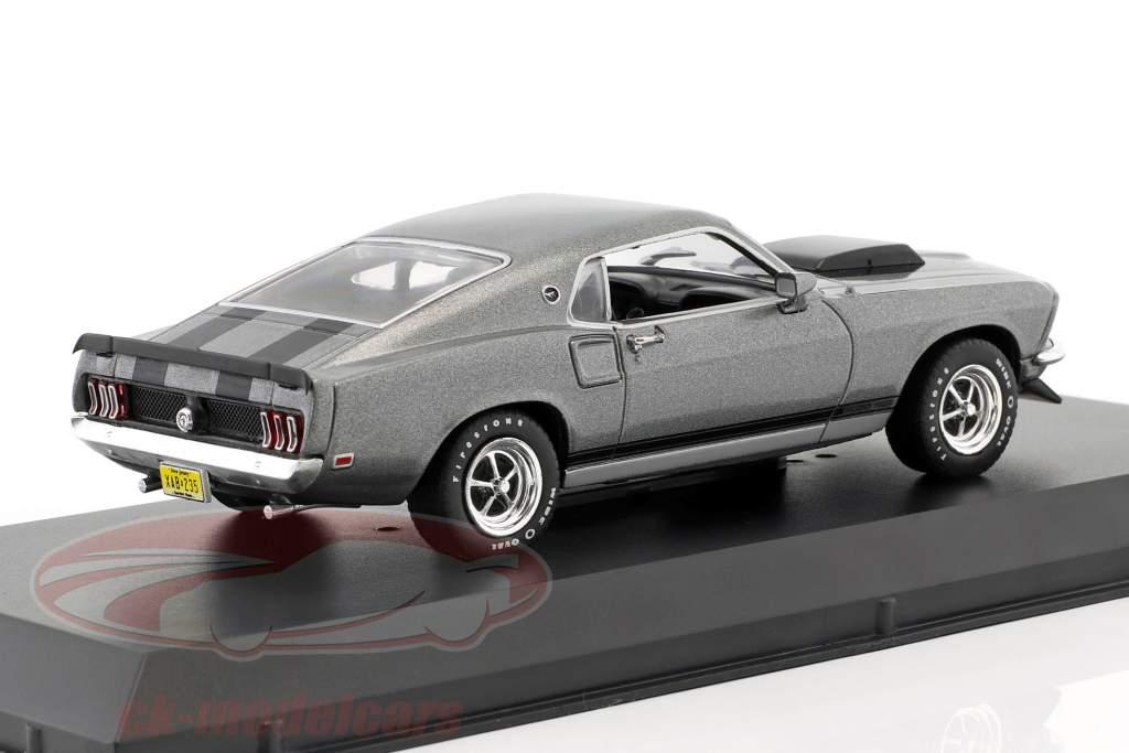 Ford Mustang Boss 429 Bouwjaar 1969 film John Wick (2014) grijs / zwart 1:43 Greenlight