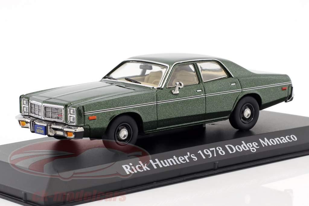 Rick Hunter's Dodge Monaco Construction year 1978 TV series Hunter (1984-1991) green metallic 1:43 Greenlight