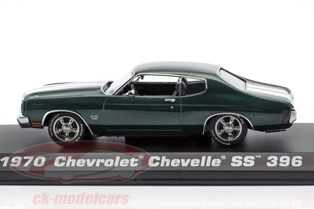 Chevrolet Chevelle SS 396 ano de construção 1970 filme John Wick 2 (2017) verde metálico 1:43 Greenlight