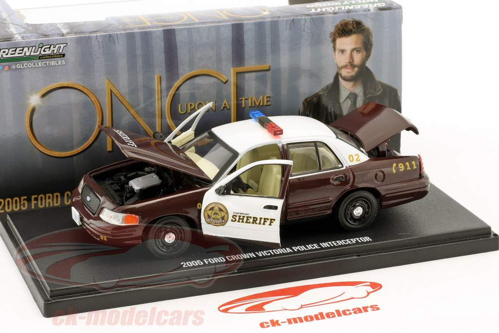 Ford Crown Victoria Police Interceptor 2005 Série TV Storybrooke - Once upon a time 1:43 Greenlight