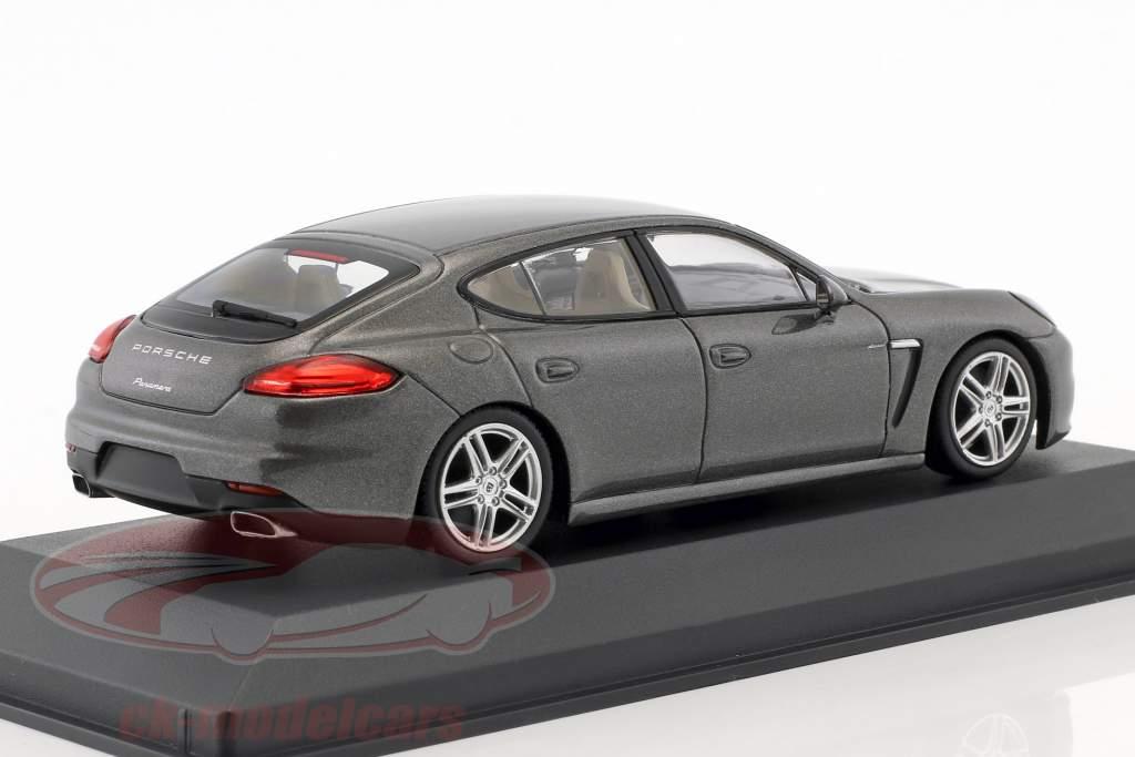 Porsche Panamera Diesel année de construction 2014 gris agate 1:43 Minichamps