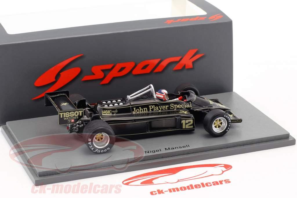 Nigel Mansell Lotus 87 #12 Las Vegas GP formel 1 1981 1:43 Spark
