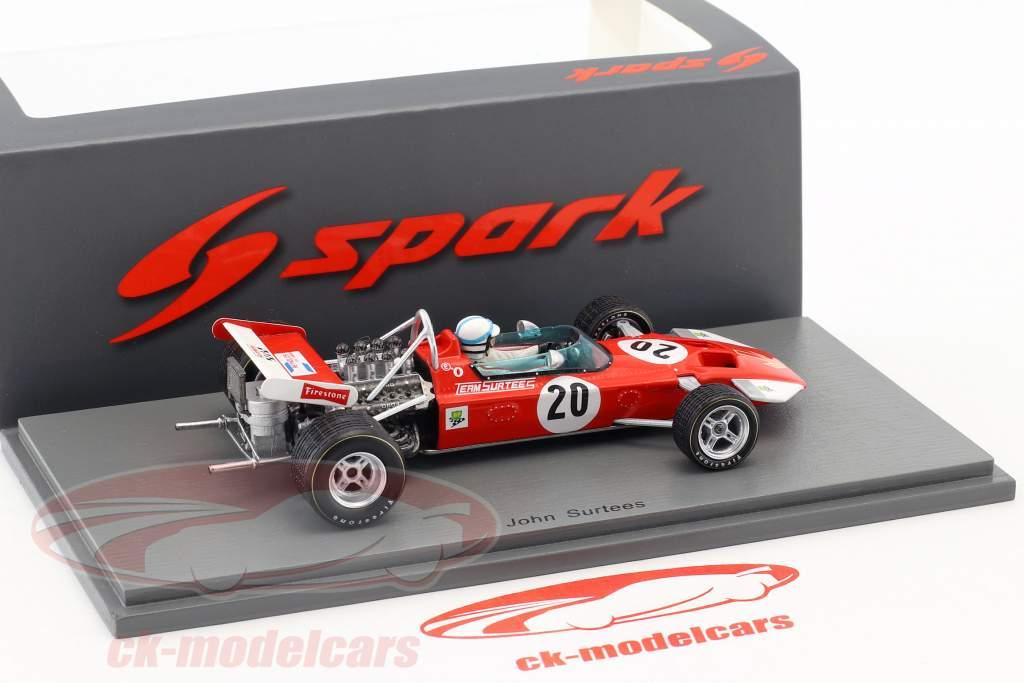 John Surtees Surtees TS7 #20 British GP fórmula 1 1970 1:43 Spark