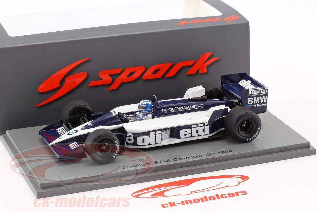 Derek Warwick Brabham BT55 #8 canadese GP formula 1 1986 1:43 Spark