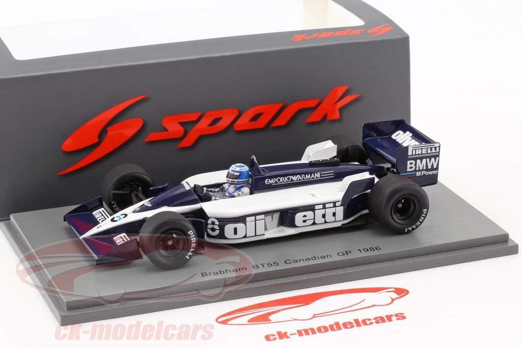 Derek Warwick Brabham BT55 #8 Kanada GP Formel 1 1986 1:43 Spark