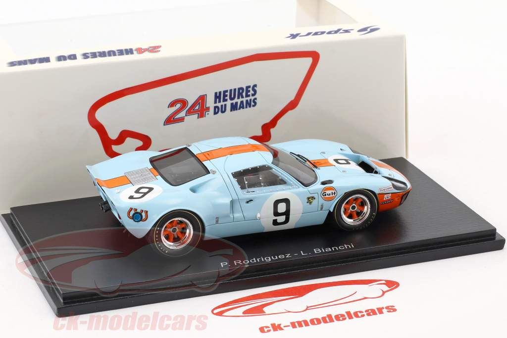 Ford GT 40 #9 Winner 24h LeMans 1968 50 Years Anniversary Rodriguez, Bianchi 1:43 Spark