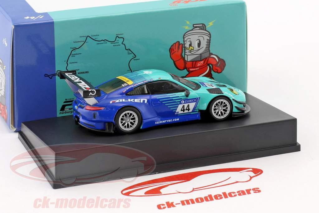 Porsche 911 (991) GT3 R #44 9 24h Nürburgring 2018 Falken Motorsports 1:64 Spark