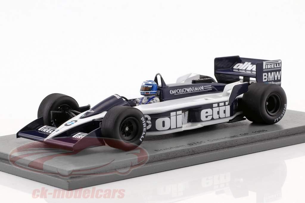 Derek Warwick Brabham BT55 #8 canadiense GP fórmula 1 1986 1:43 Spark