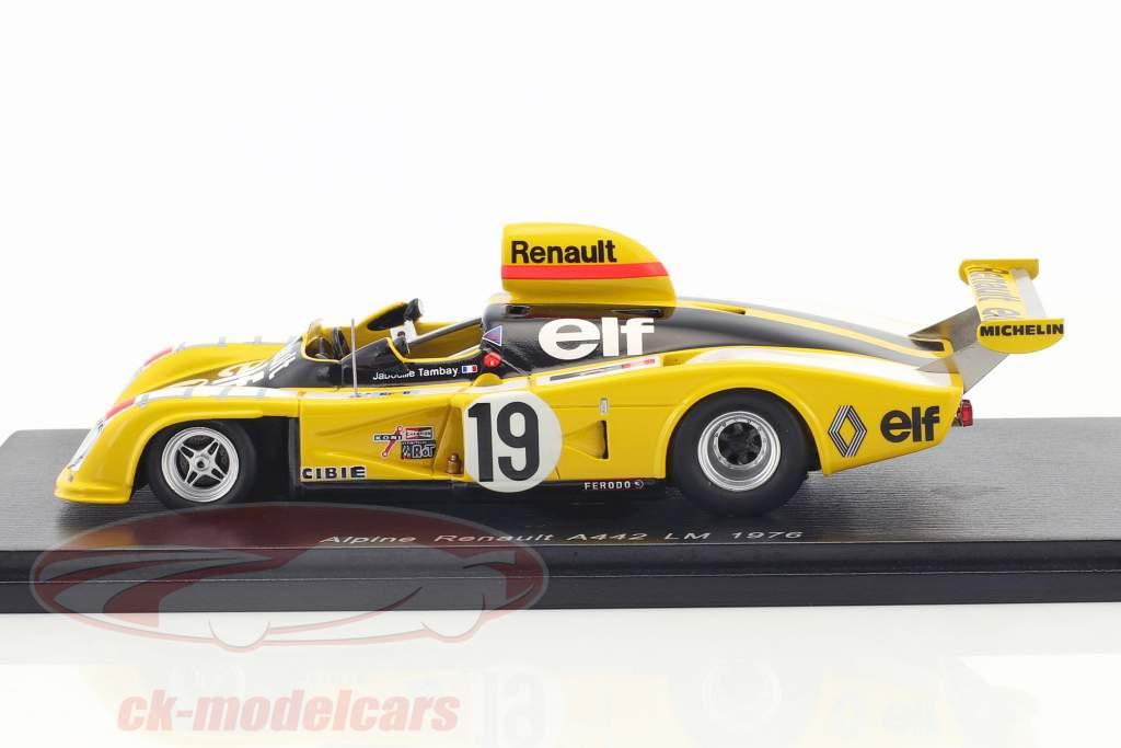 Alpine Renault A442 #19 24h LeMans 1976 Jabouille, Tambay, Dolhem 1:43 Spark