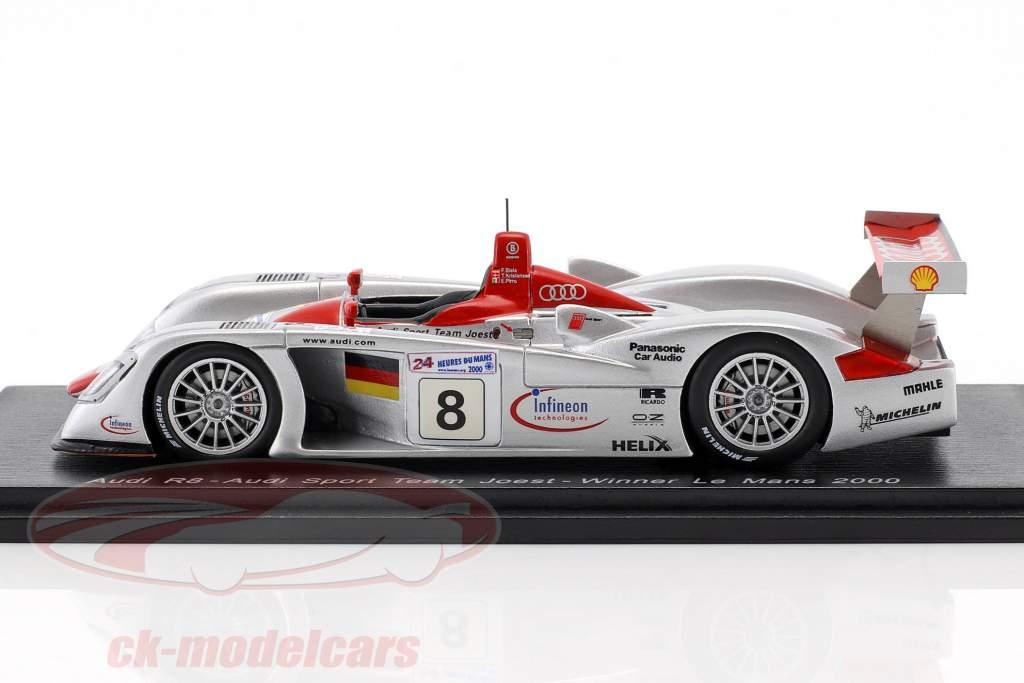 Audi R8 #8 Winner 24h LeMans 2000 Kristensen, Pirro, Biela 1:43 Spark