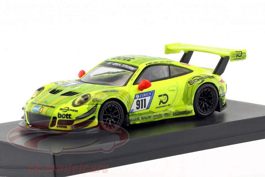 Porsche 911 (991) GT3 R #911 Manthey Racing Pole Position 24h Nürburgring 2018 1:64 Spark