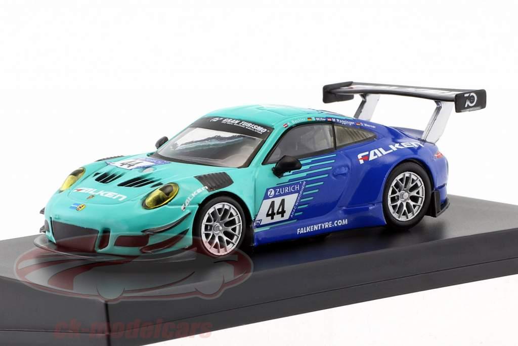 Porsche 911 (991) GT3 R #44 noveno 24h Nürburgring 2018 Falken Motorsports 1:64 Spark