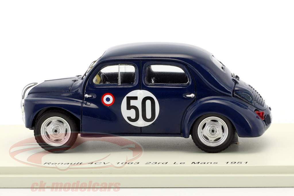 Renault 4CV 1063 #50 Class Winner 750 cm³ 24h LeMans 1951 Landon, Briat 1:43 Spark