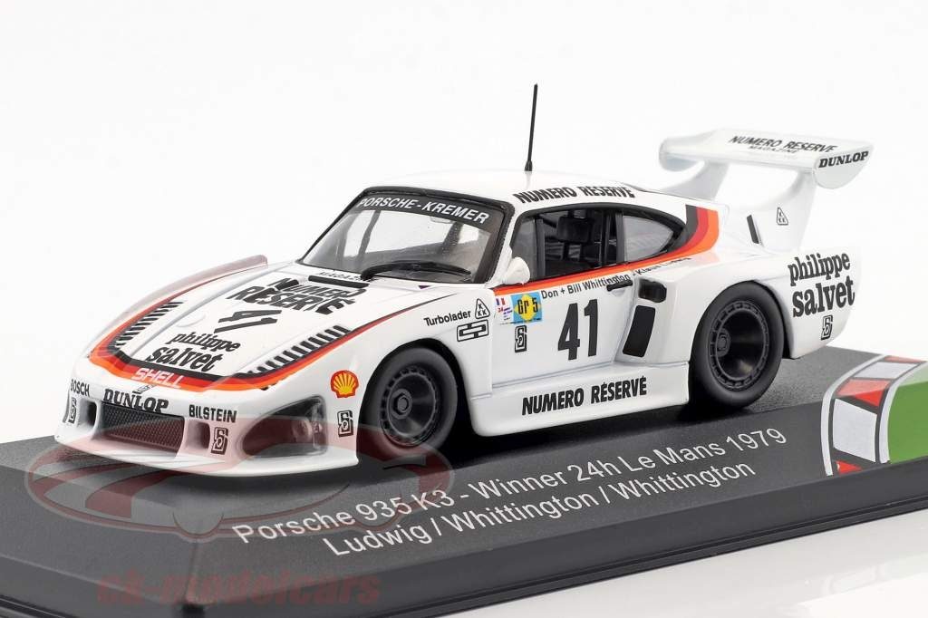 Porsche 935 K3 #41 Vinder 24h LeMans 1979 Ludwig, Whittington, Whittington 1:43 CMR