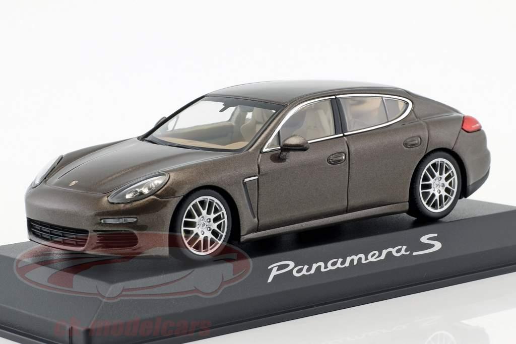 Porsche Panamera S Gen. II ano de construção 2014 marrom metálico 1:43 Minichamps